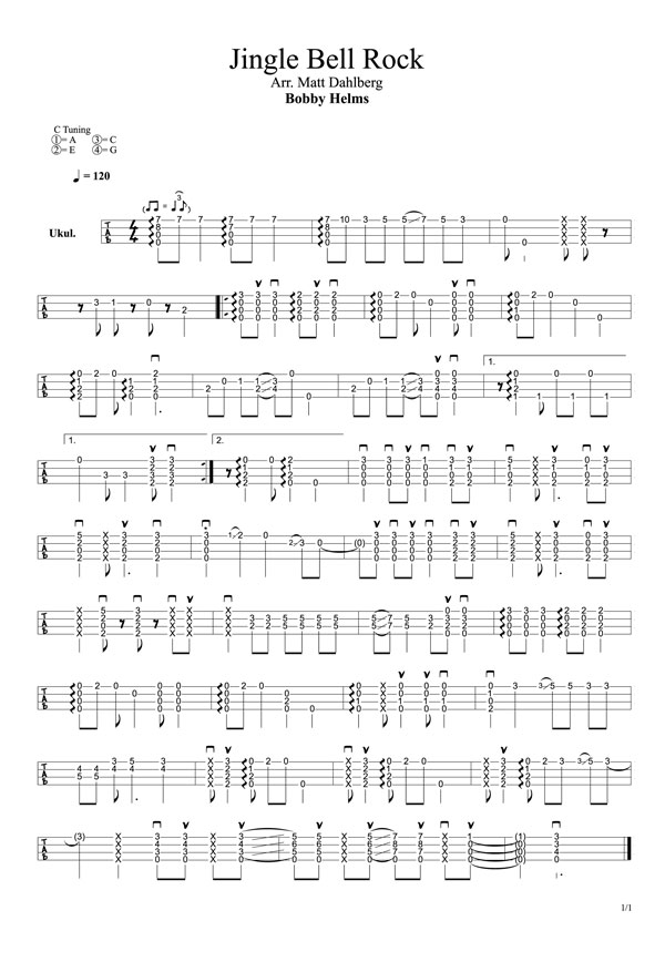 jingle bell rock chords in c